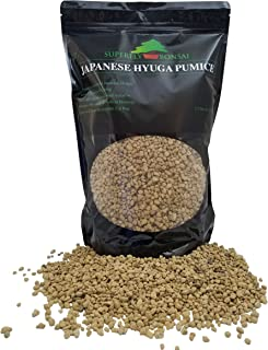 Japanese Hyuga Pumice - Professional Imported Sifted and Ready To Use - Can Also Be Used As An Additive For Bonsai Soil In Easy Zip Bag - (2.5 Dry Quart) (2.5 Dry Quart)