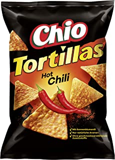Chio Tortilla Chips Hot Chili, 10er Pack 10 x 125 g