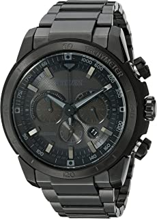 Men's Eco-Drive Chronograph Stainless Steel Watch with Date, CA4184-81E