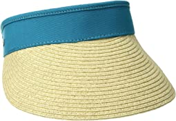 San Diego Hat Company UBV044 Visor with Adjustable Canvas Band and Terry Cloth Interior Sweatband