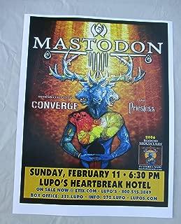 2007 Mastodon Blood Mountain Concert Poster