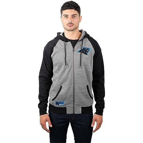 ICER Brands NFL Men s Full Zip Hoodie Sweatshirt Raglan Jacket 089c681db700