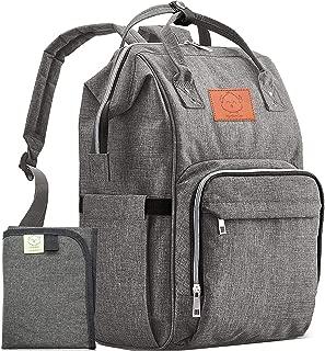 おむつバッグバックパック-大型防水トラベルベビーバッグ (グレー)