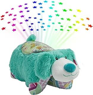 Pillow Pets Sleeptime Lites Colorful Teal Puppy Stuffed Animal Plush Night Light