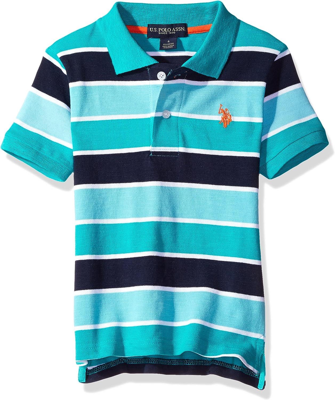 Polo Assn U.S Boys Short Sleeve Space Dyed Polo Shirt