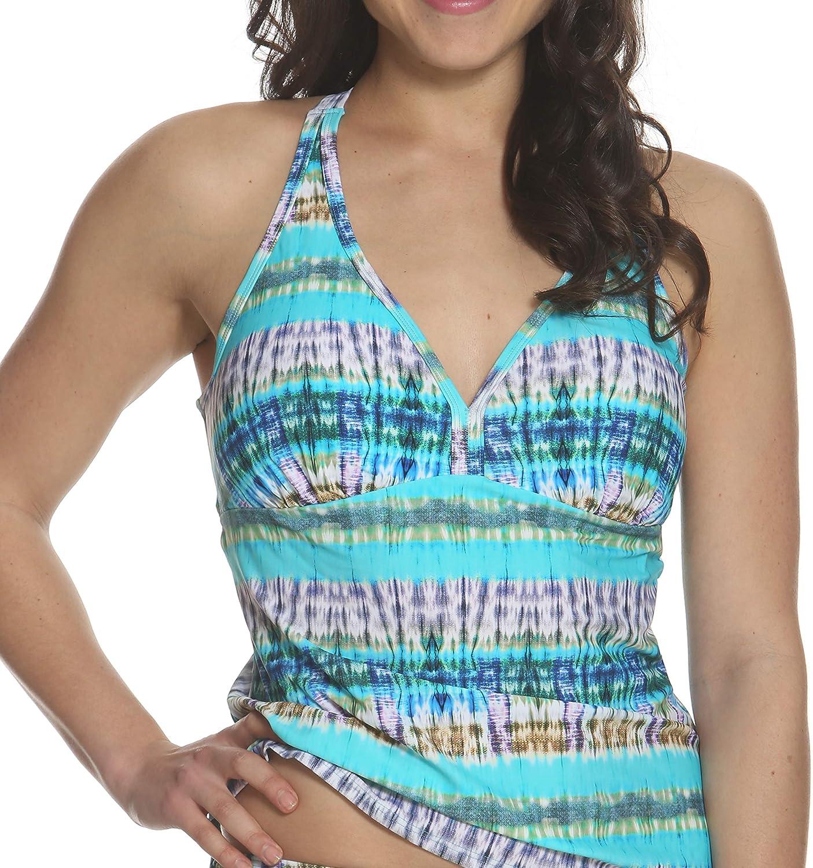 Sun and Sea Womens Criss Cross Back Straps Tankini Swim Top