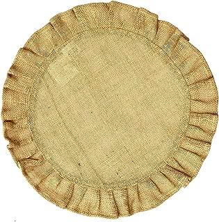 round ruffle burlap placemats