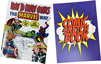Comic Book Drawing Activity Set, How to Draw Comics The Marvel Way Drawing Book, Blank Comic Sketchbook for Kids, Unique Gift Ideas