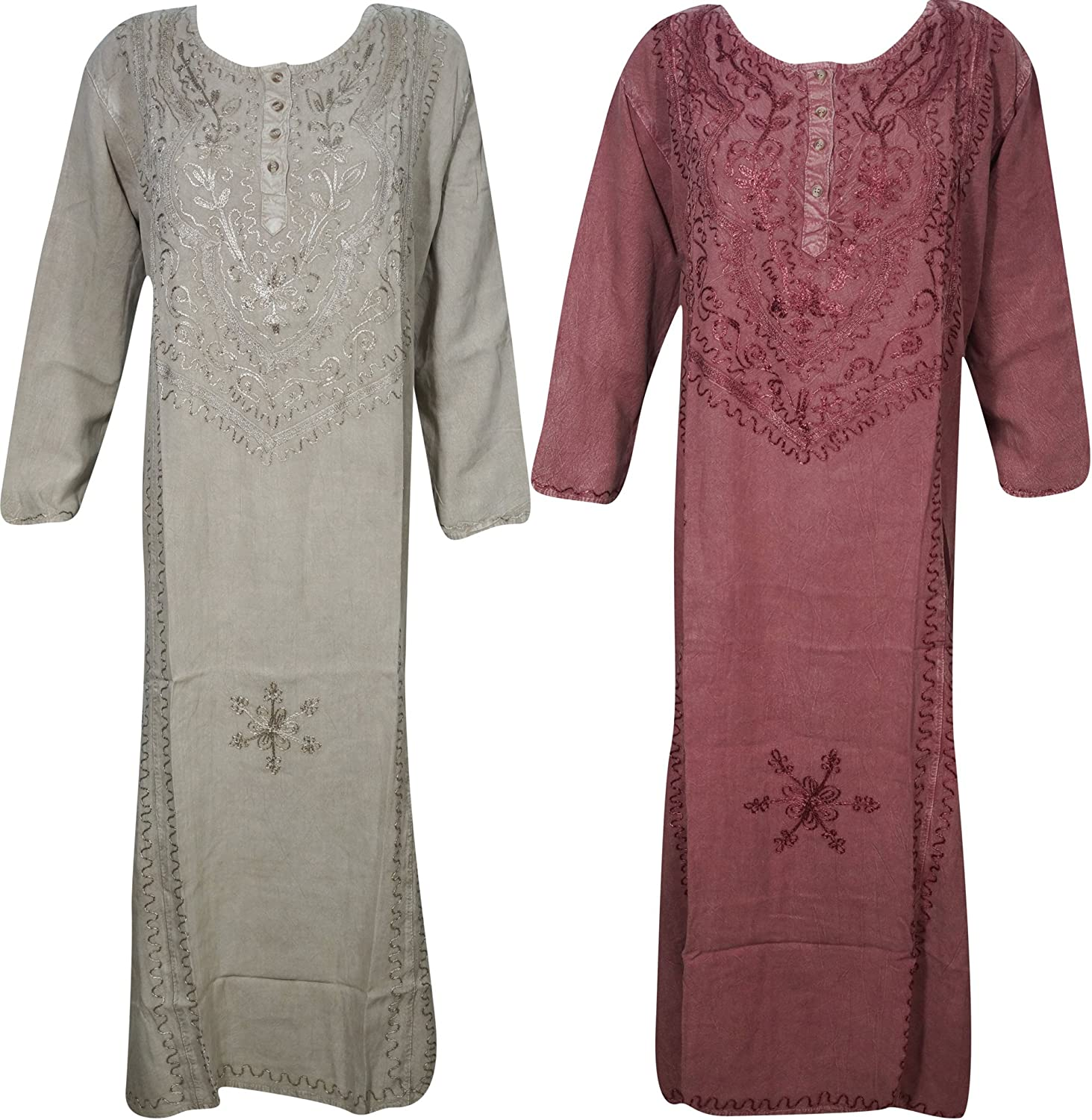 Womens Spring Maxi Dress Embroidered Gypsy Dresses Wholesale Lot Of 2 XXL