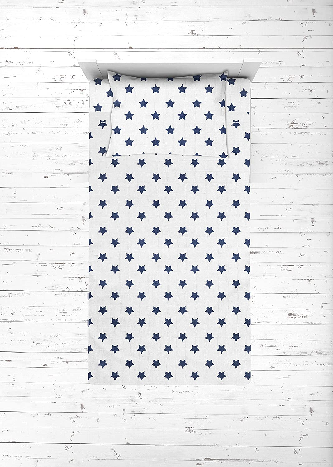 Bacati OFFer - Muslin Selling and selling Ikat Stars 3 Piece Sheet Toddler Bed Set 10 Boys