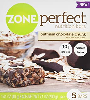 Zone Perfect Nutrition Bars, Oatmeal Chocolate Chunk, 1.41-Ounce, 5 Count