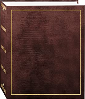 Pioneer Photo Albums 100 Page Leatherette with Gold Stamped Cover 3-Ring Magnetic Album LM-100/BN