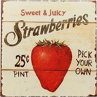 Amazon Com Country Strawberry Kitchen Decor