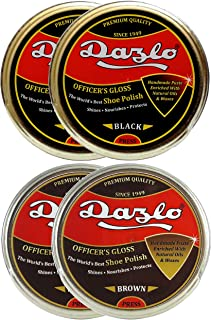 Dazlo Handmade Shoe Polish - Black (2×40g) + Brown (2×40g)