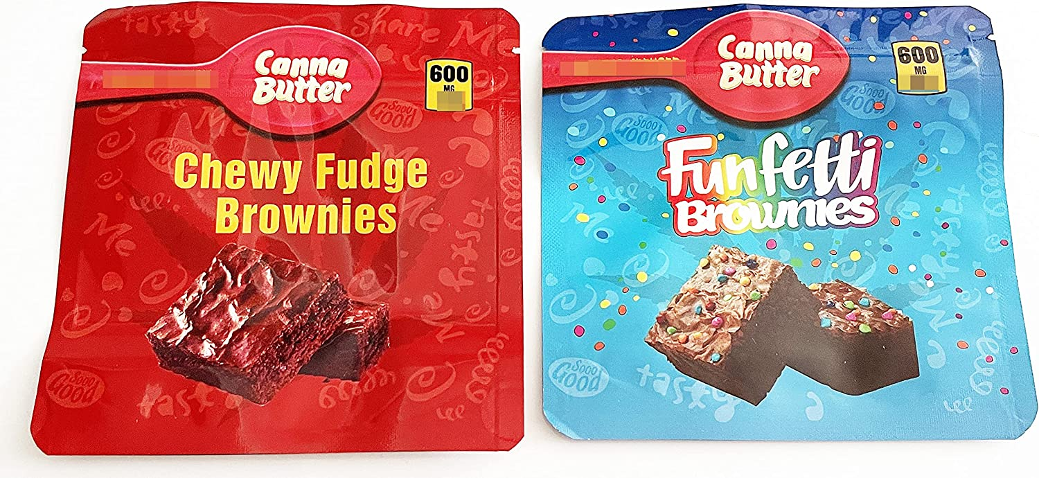 50 store PCS Packaging Bags Canna Butter Sacramento Mall Funfetti Chewy Fudge Brownies