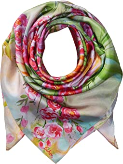 Painted Tulip Silk Square Scarf