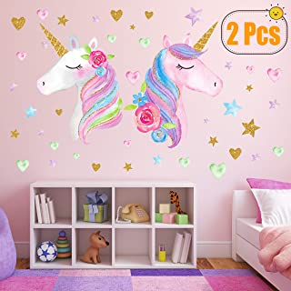 2 Sheets Large Size Unicorn Wall Decor,Removable Unicorn...