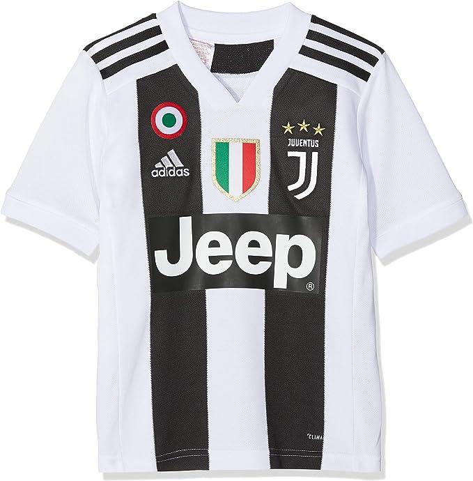 adidas Juve H JSY Y, Maglia Gara Home 2018/2019 Cristiano Ronaldo, Bambino