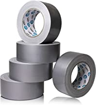 EdenProducts Heavy Duty Industrial Silver/Gray Duct Tape - 5 Roll Multi Pack - 30 Yards x 2 Inch Wide, Extra Thick & Stron...