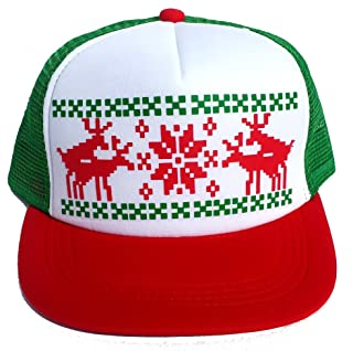 6de5a8e7552 Ugly Christmas Sweater Party RWG Snapback Mesh Trucker Hat Cap Humping  Reindeer