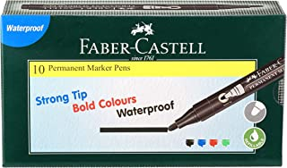 Faber-Castell Permanent Marker Pen - Pack of 10 (Black)