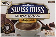 Swiss Miss Simply Cocoa Dark Chocolate Hot Cocoa Mix, 8 Count 6.8 oz