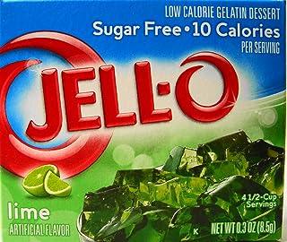 Jell-O Lime Flavor Sugar Free Gelatin (4 Pack)