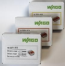 wagok Lemmen Set 100x 221–412, 50x 221–413, 25x 221–415  Cable conector–Original Wago