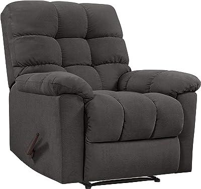Flash Furniture Contemporary Softsuede Fudge Microfiber Rocker Recliner