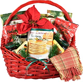 Gift Basket Village - Country Christmas Breakfast Basket - A Christmas Morning Breakfast Kit Friends or Family (Medium), 9 Pound