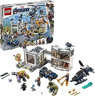 LEGO Super Heroes - Batalla en el Complejo de los Vengadores, Juguete de Construcción de Avengers, Incluye Helicóptero y Todoterreno (76131)
