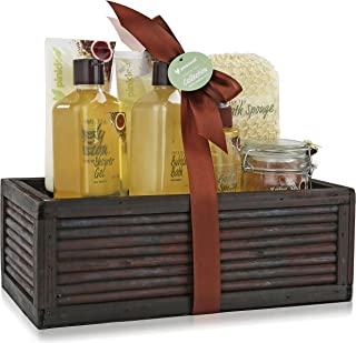 Holiday Bath Spa Gift Basket - Refreshing Fragrance Enriched with Natural Argan Oil, Perfect Wedding, Birthday or Anniversary Gift, Bath gift Set Includes 8pc Spa Set (Green Tea Argan Oil)
