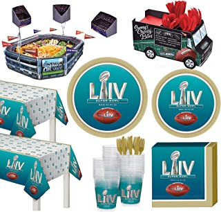 Party City Super Bowl Infladium Deluxe Tableware Supplies for 36 Guests, Include a Snack Stadium, Plates, and More