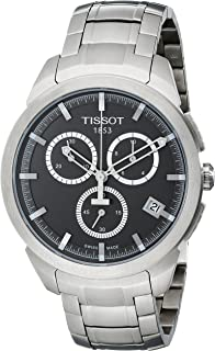 Tissot Men's T0694174406100 Quartz Titanium Grey Dial Chronograph Watch