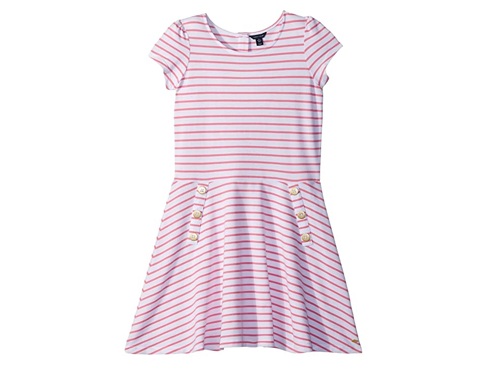 Tommy Hilfiger Kids Yarn-Dye Stripe Dress (Big Kids) (Pink Carnation) Girl