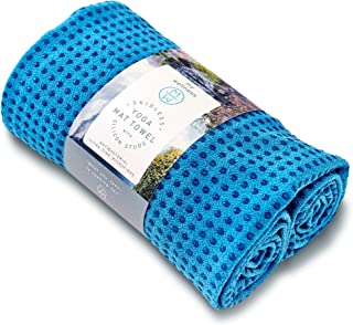 NON SLIP Yoga Mat Towel With Silicone Studs. Thrives in Studios and whilst Traveling