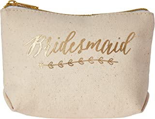 Kate Aspen Gold Foil Bridesmaid Canvas Makeup Bag
