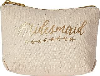 Kate Aspen Gold Foil Bridesmaid Canvas Makeup Bag