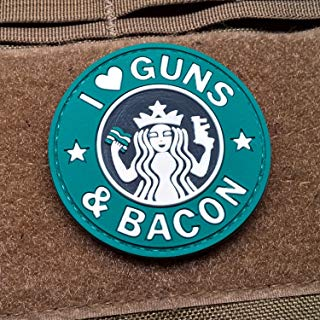 NEO Tactical Gear I Love Guns and Bacon Morale Patch PVC