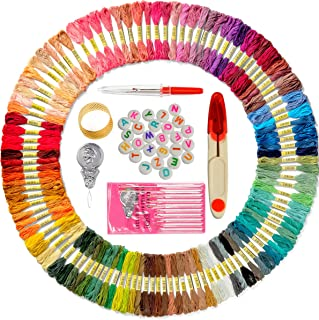 Premium Embroidery Thread for Friendship Bracelet String - 110 Colors Coded as DMC Embroidery Floss - Cross Stitch, Any Thread or String Craft - Best Bracelets Making Kit Gift for Girls with Extras