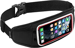 Sporteer Zephyr Slim Running Belt for iPhone 11 Pro Max, 11, 11 Pro, Xs Max, XR, X, 8/8 Plus, Galaxy S10 Plus, S10, S10e, Note 10+, Note 10/9, S9, S9+, S8+, Pixel 4 XL, and Many More Phones & Cases