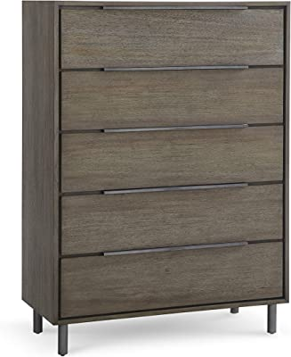 Amazon Com Laguna 5 Drawer Dresser Chest Black Wood Grain Bedroom Furniture Furniture Decor