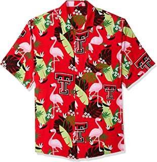NCAA Texas Tech Red Raiders Foco Floral Button Up Shirt, Team Color, Large