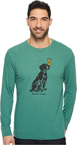 Life is Good - Man's Best Friends Long Sleeve Crusher Tee