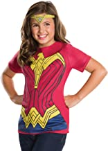 Rubie's Batman v Superman: Dawn of Justice Wonder Woman Child Top and Tiara Small 620619-000-S