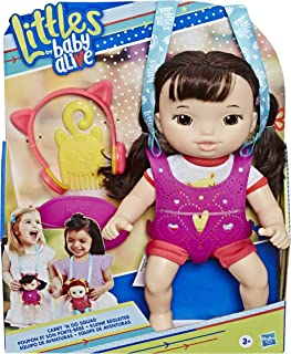 Littles by Baby Alive, Carry 'N Go Squad, Little Iris, Black Hair Doll, Carrier, Accessories, Toy For Kids Ages 3 years & Up (Amazon Exclusive)