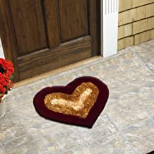 Heart Shape Door Mat Bedroom Mat (Multicolor)