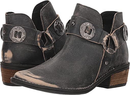 Black Buff Leather