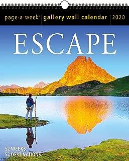 Escape Page-A-Week Gallery Wall Calendar 2020