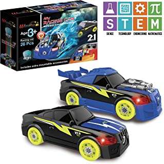 Take Apart Racing Car, Toy for 4 years old, STEM kit Set With Drill Tool For Kids- Boys & Girls, Car Toy set–26 Pieces, Building Your Own Car With Head Lights & Engine Sounds, For Ages 3 4 5 6 7+